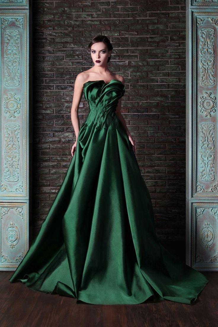 свадебное платье зеленое фото