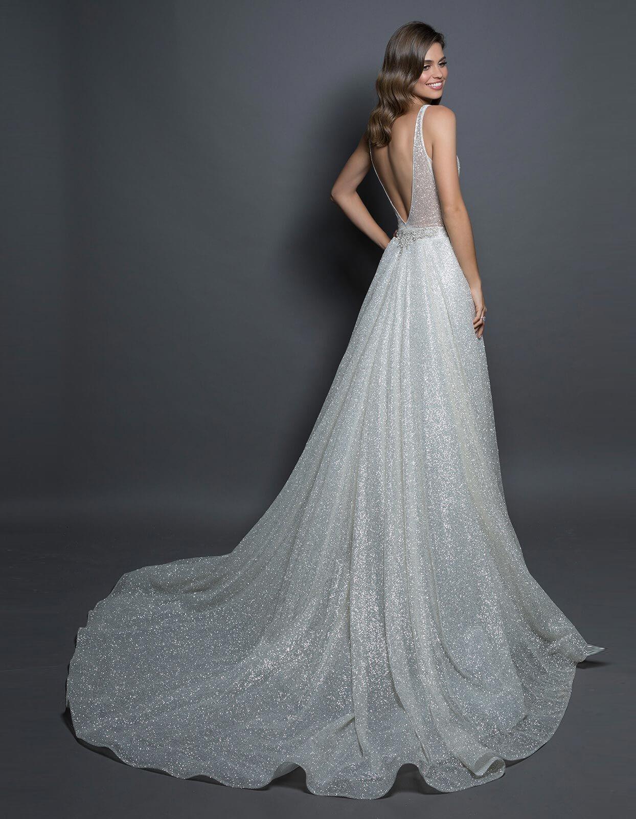 свадебное платье глиттер фото