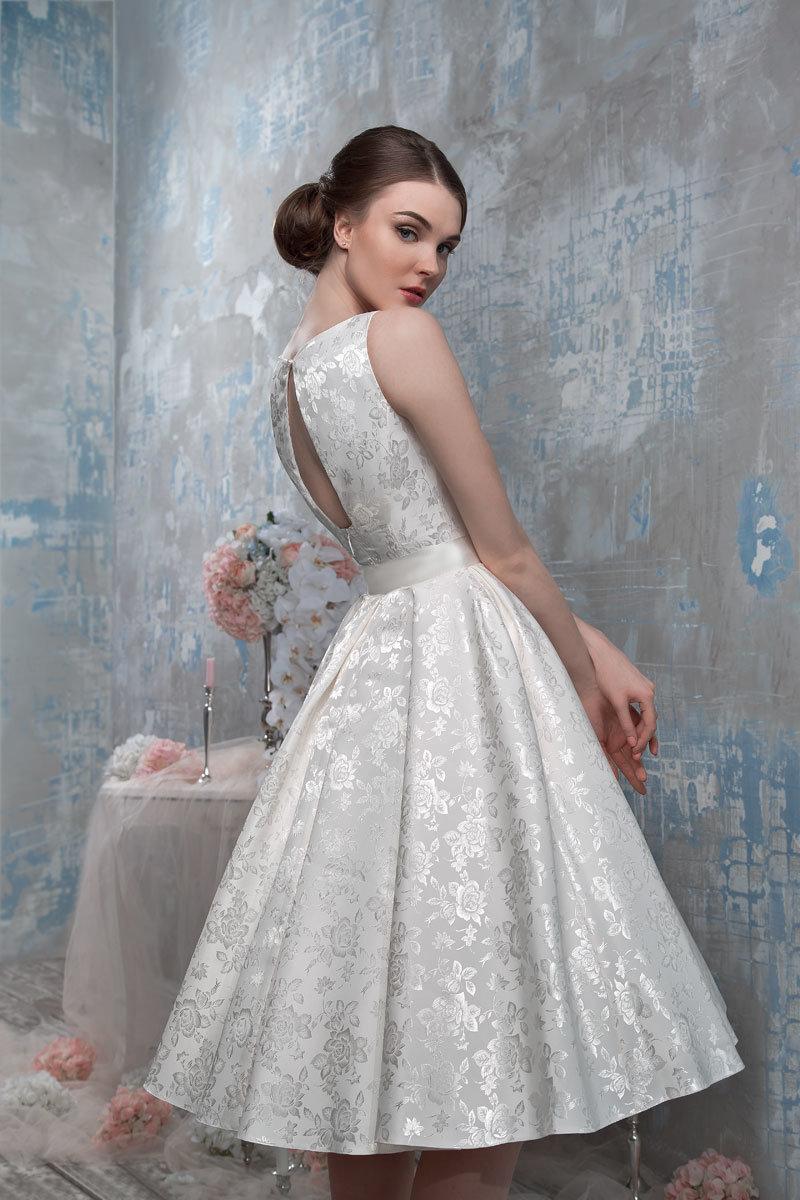 свадебное платье жаккард фото
