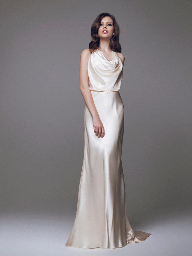 свадебное платье шелк фото