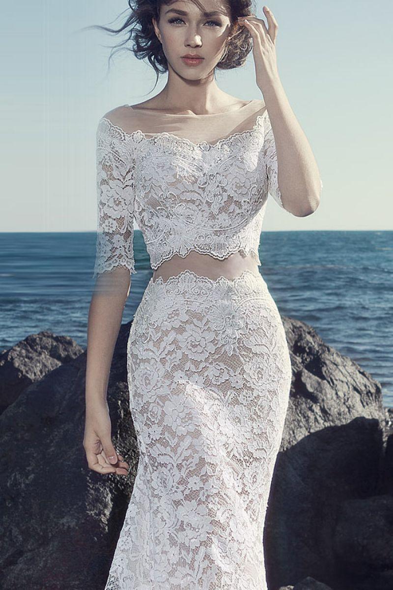 свадебное платье гипюр фото