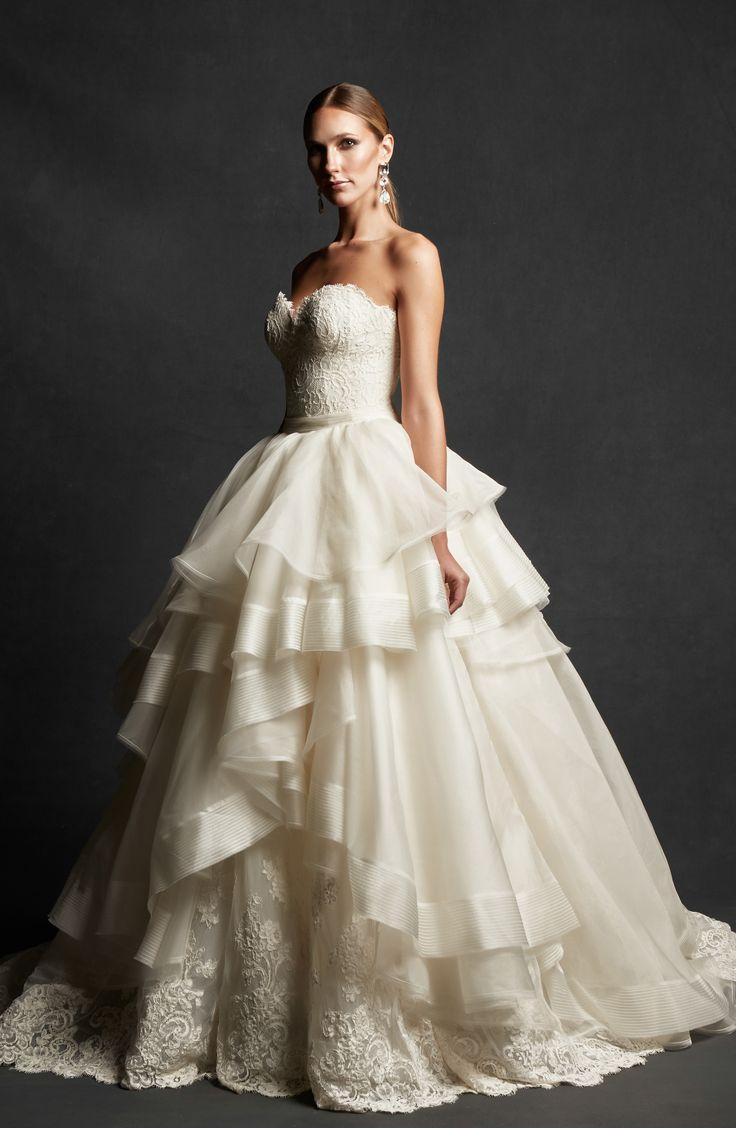 свадебное платье органза фото