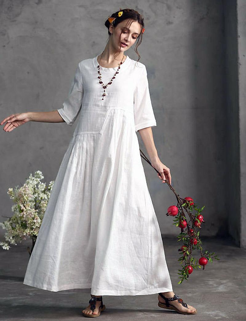 свадебное платье лен фото