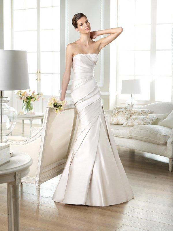 свадебное платье сатин фото