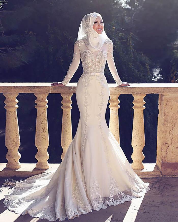 Свадебные платья мусульманская фото