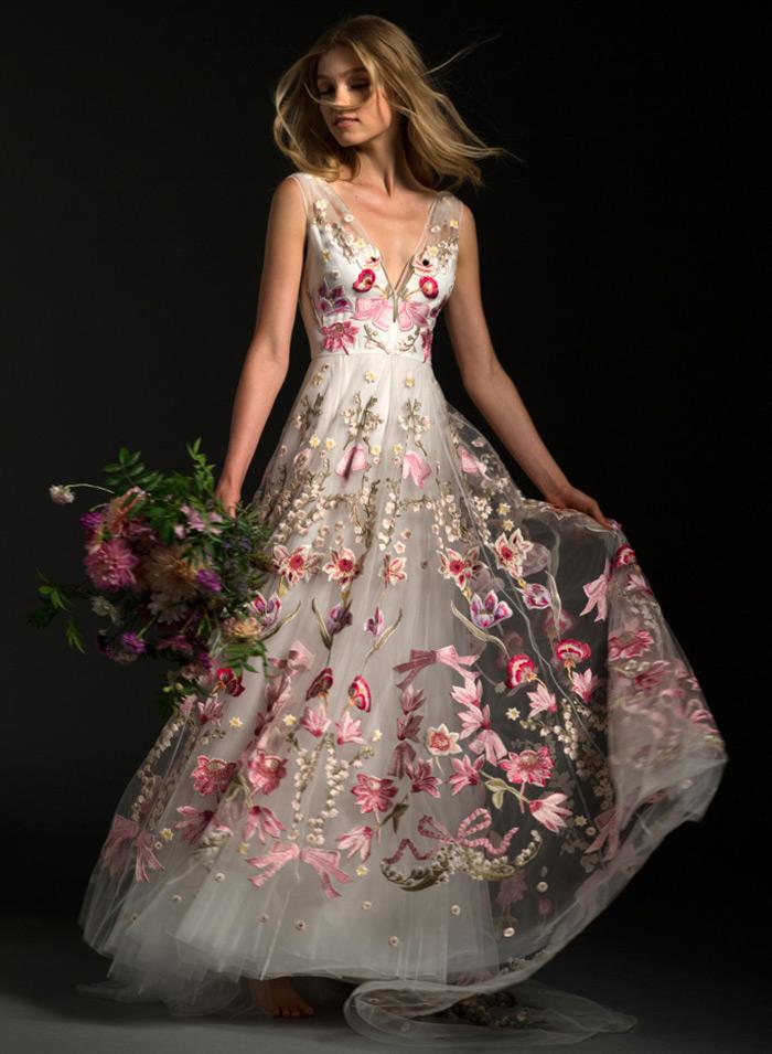 Свадебные платья цветы фото