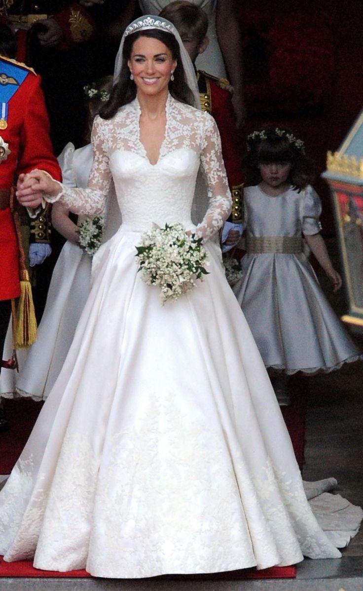 Кейт Миддлтон в свадебном платье фото