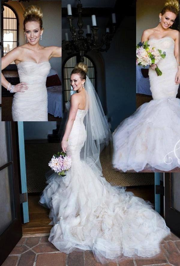 Хилари Дафф в свадебном платье фото