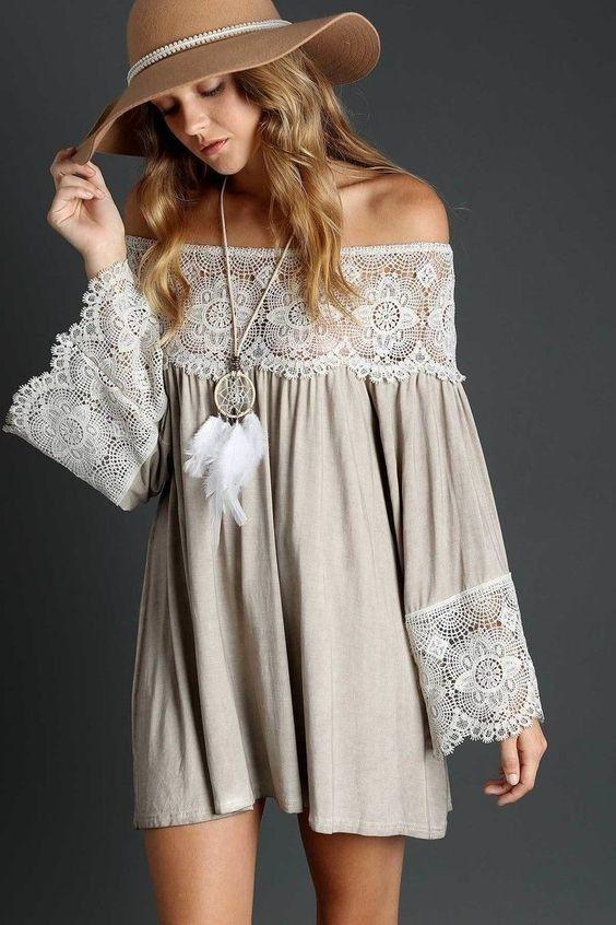 платье бохо короткие фото