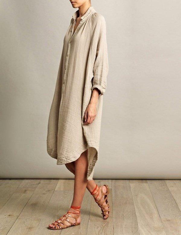 Платье-рубашка бохо фото