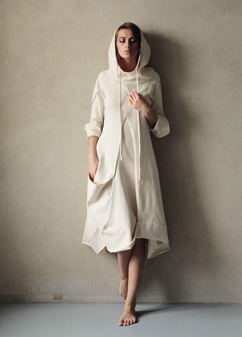 Платье бохо с капюшоном фото