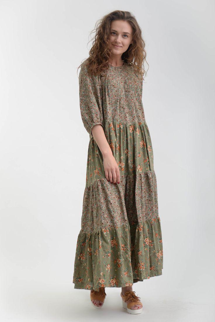 Платье бохо штапель фото