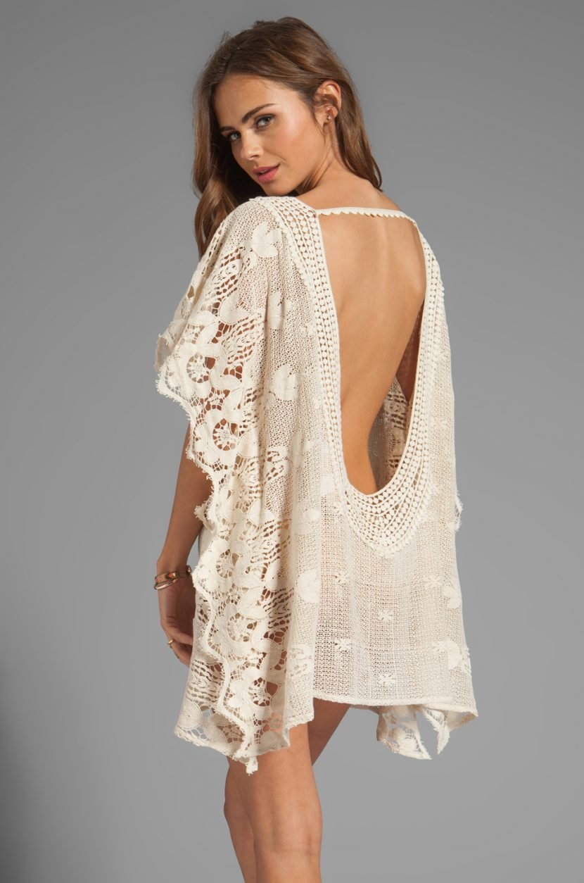 Платье бохо вязаное фото