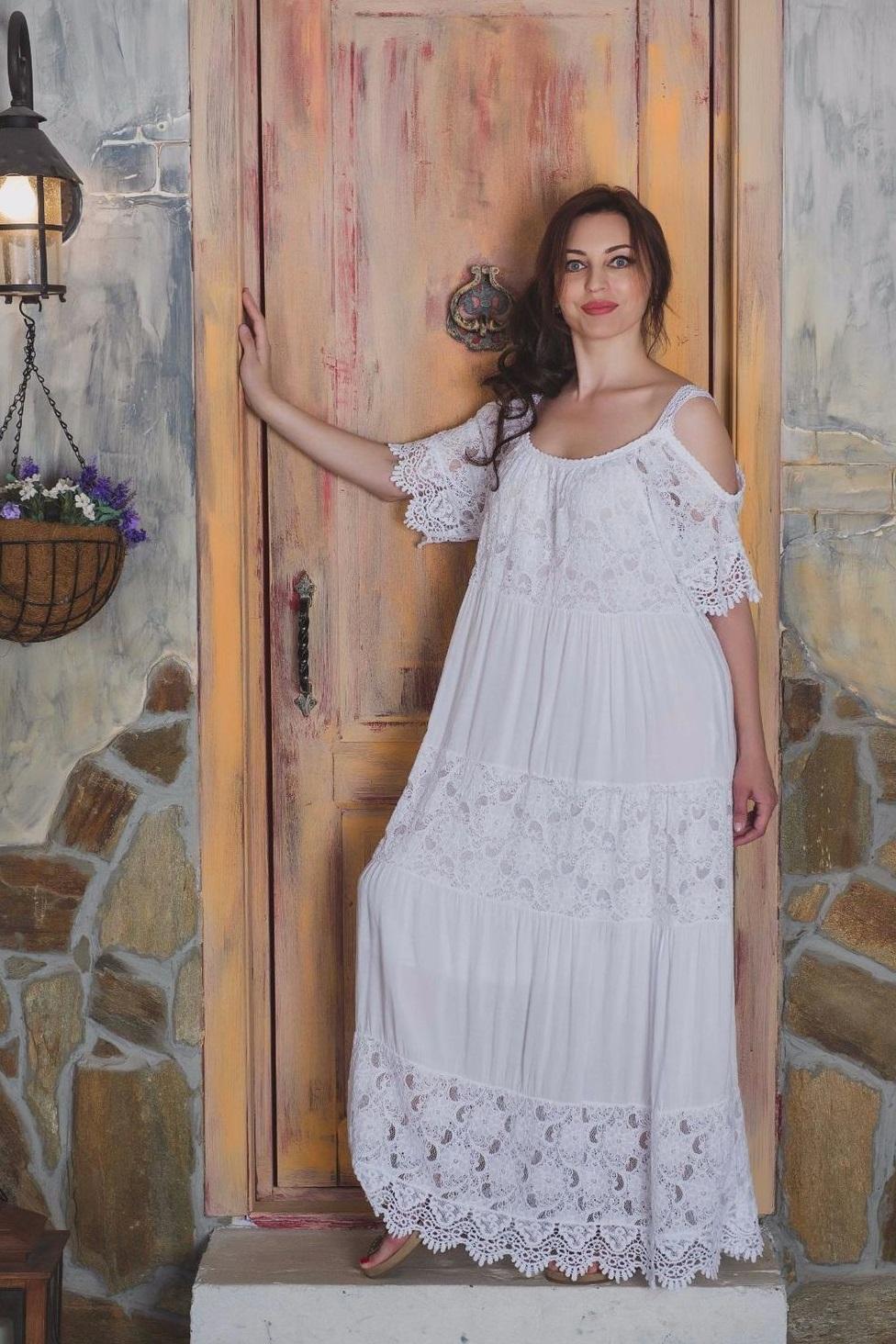 Платье бохо из марлевки фото