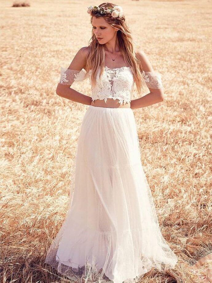 Платье бохо свадебное фото