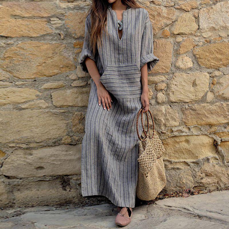 Платье бохо шик в полоску фото