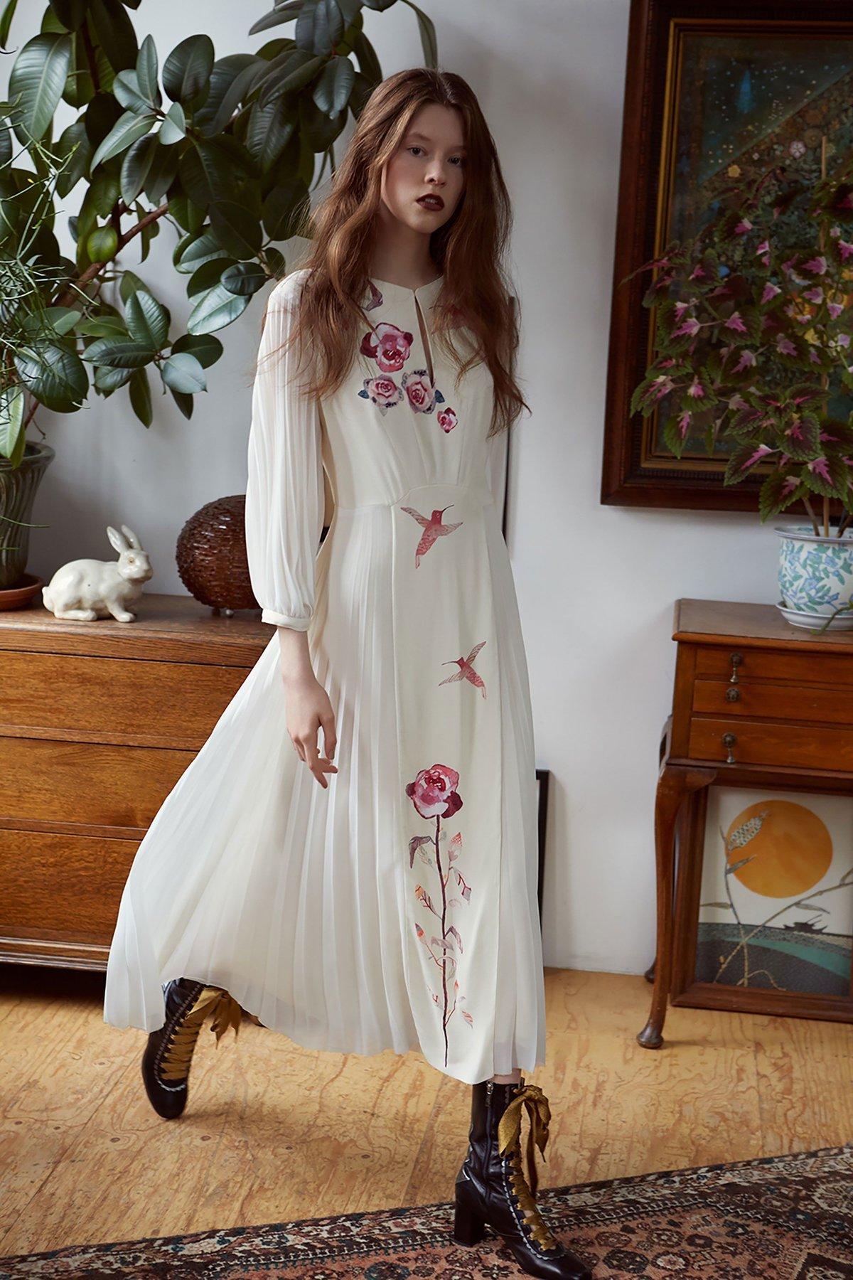 Платье бохо шик с вышивкой фото