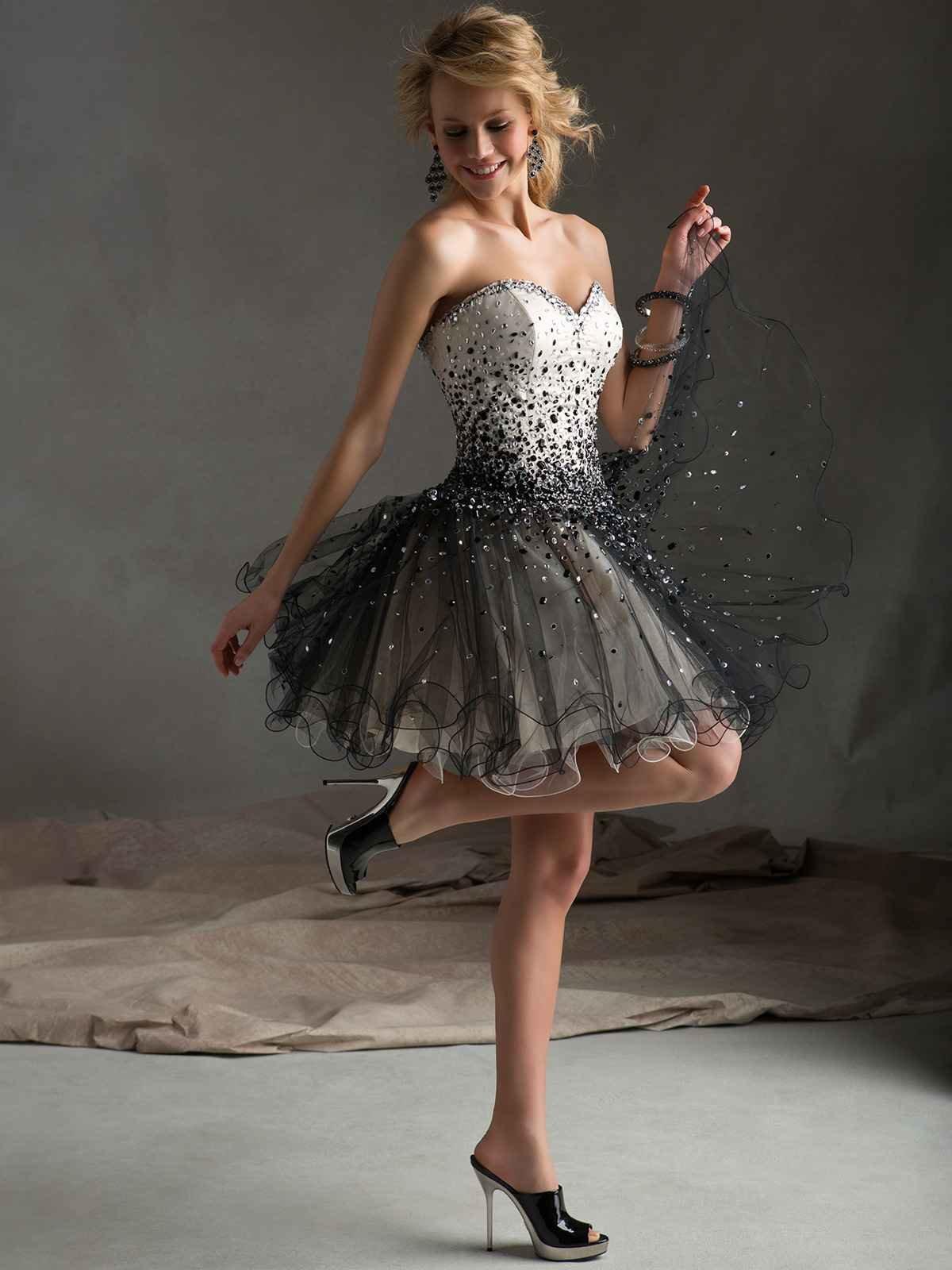 бальное платье короткое