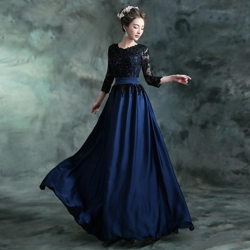 бальное платье в пол с длинными рукавами