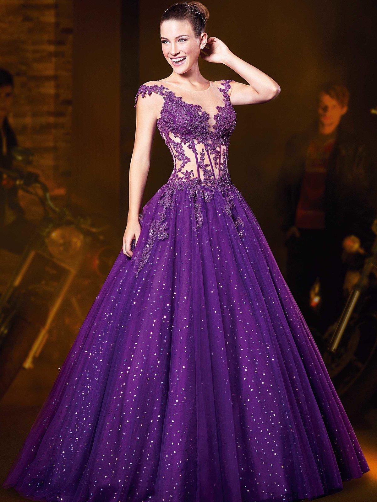бальное платье фиолетовое