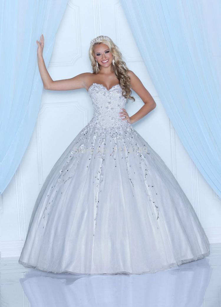 бальное платье белое