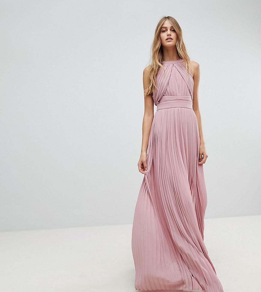 розовое длинное платье макси