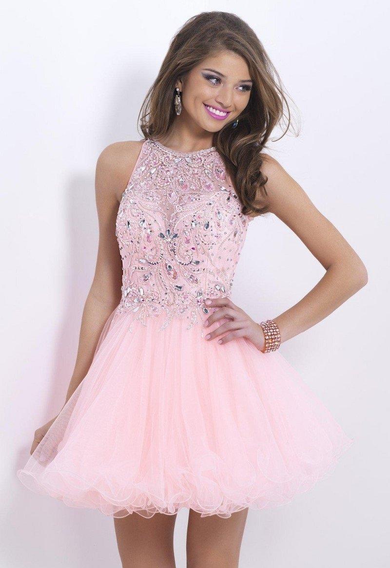 розовое платье пышное короткое