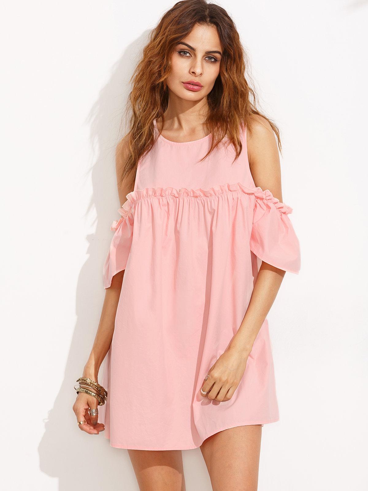 розовое платье летнее