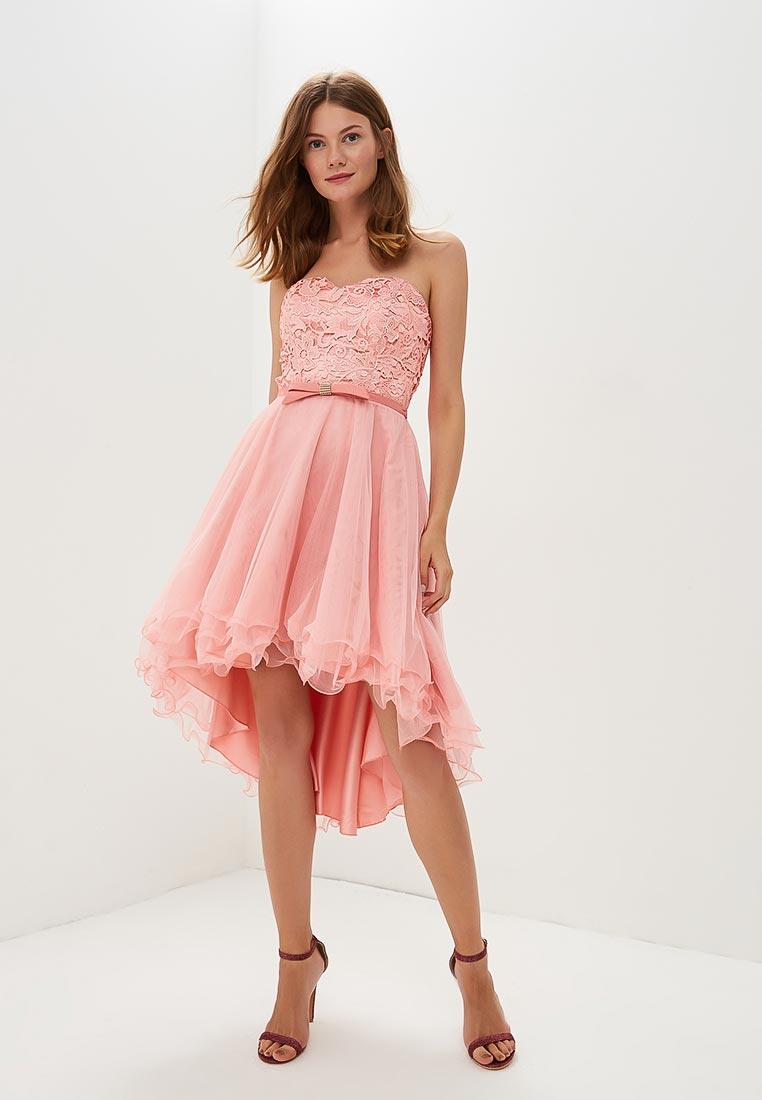 розовое платье для выпускного