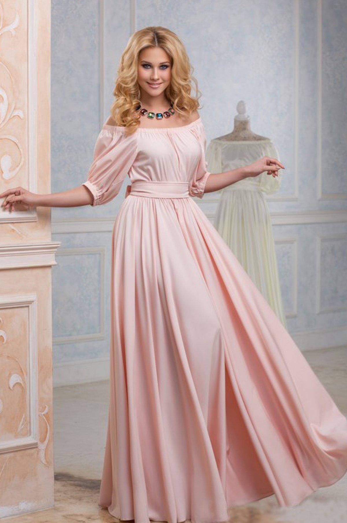 розовое платье вечернее