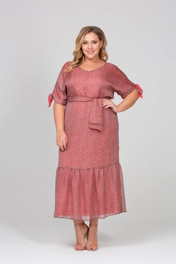 розовое платье для полных женщин