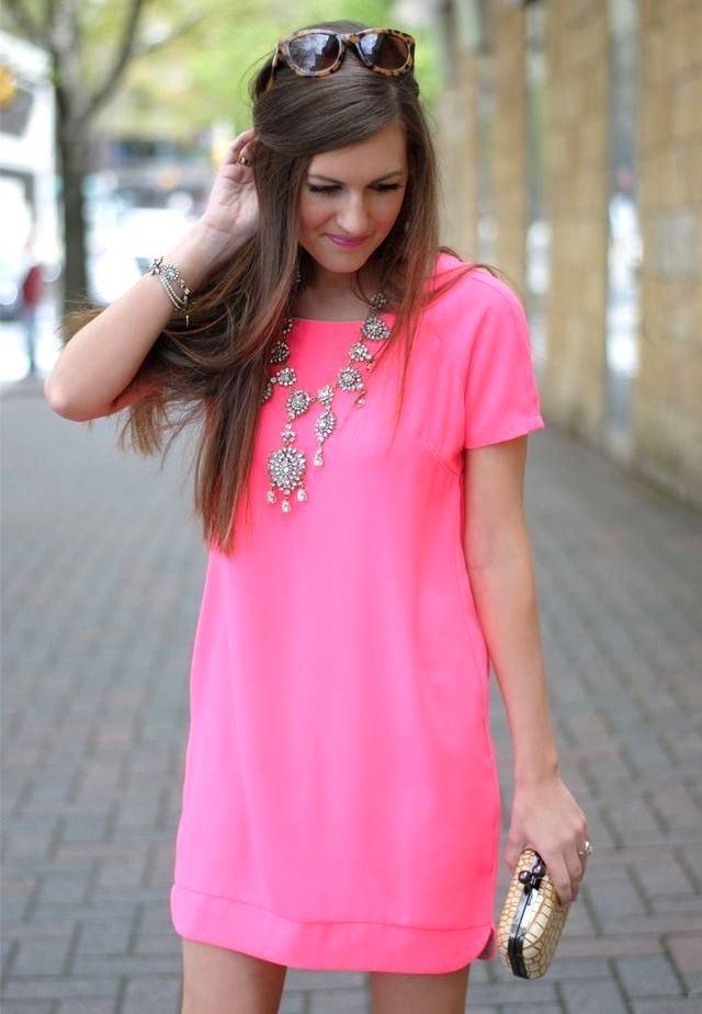 украшения под розовое платье