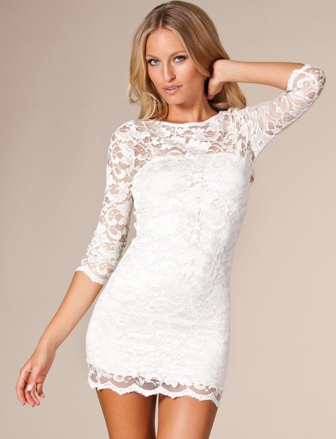 короткое платье белое