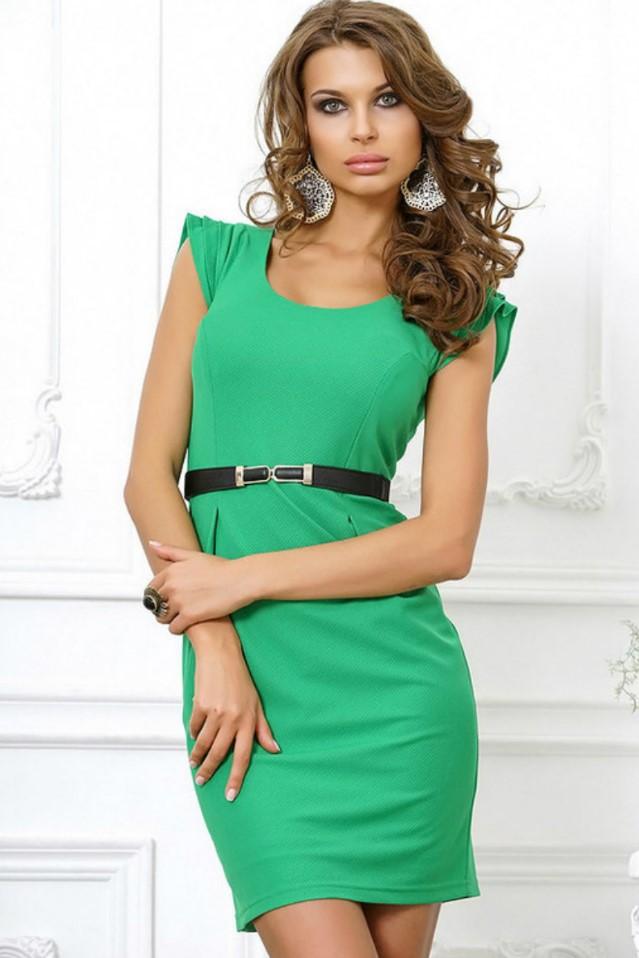 короткое платье зеленое
