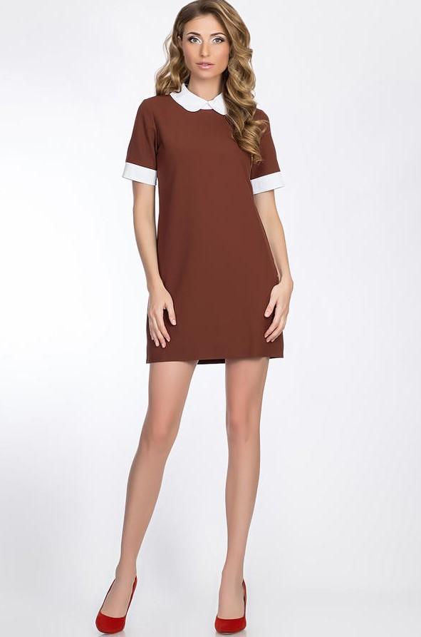 короткое платье коричневый