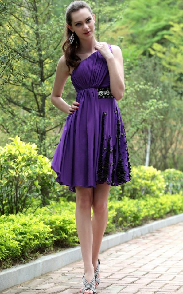 короткое платье фиолетовое