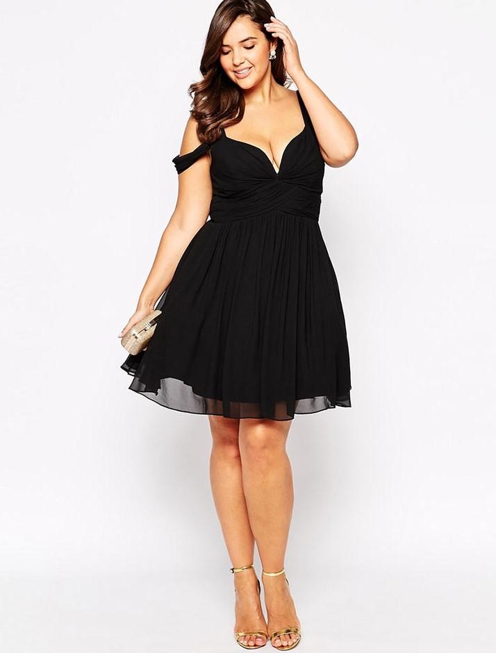 короткое платье для полных
