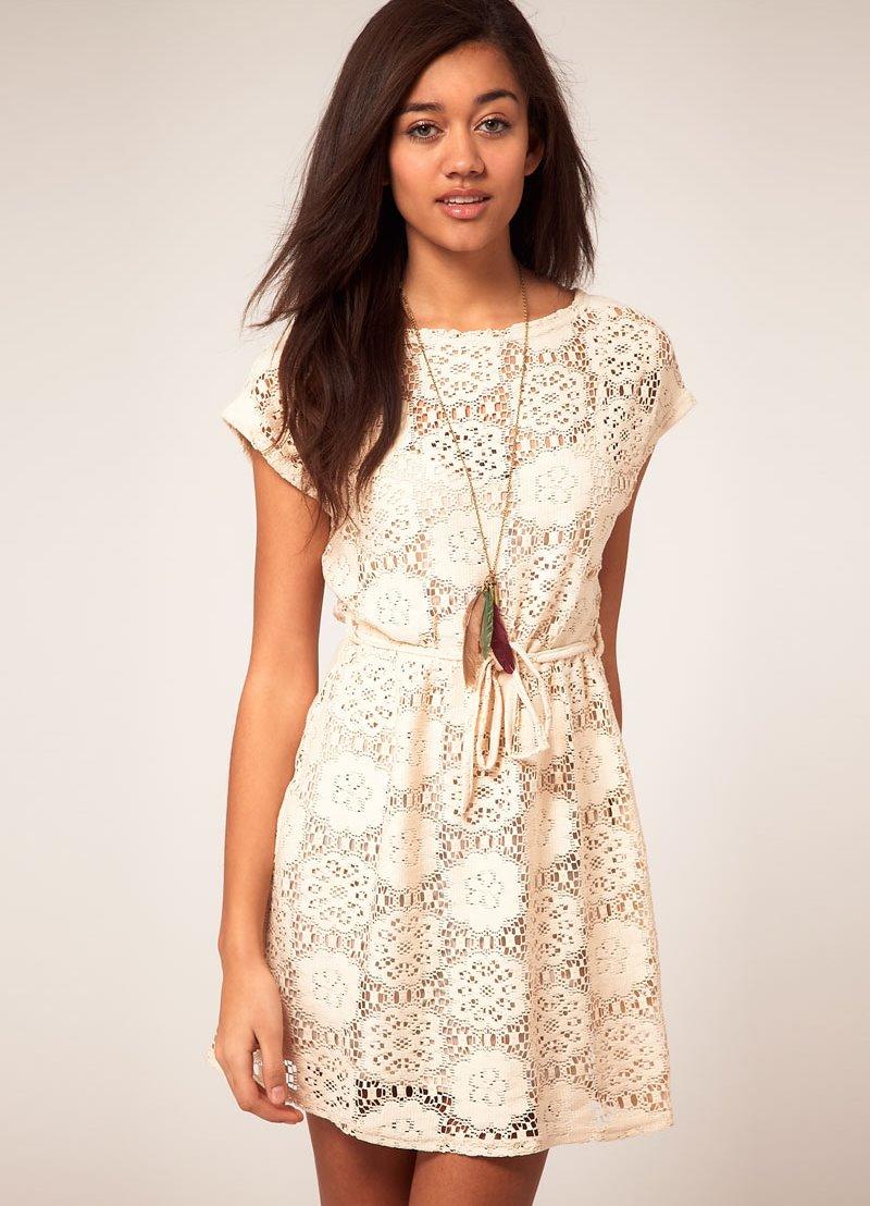 кружевное платье летнее