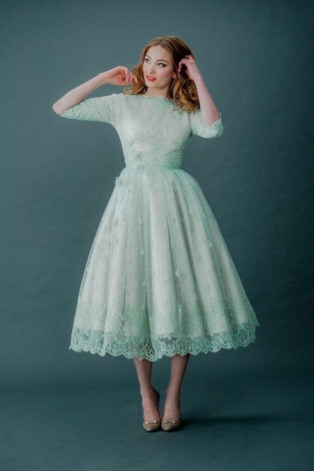 кружевное платье ретро