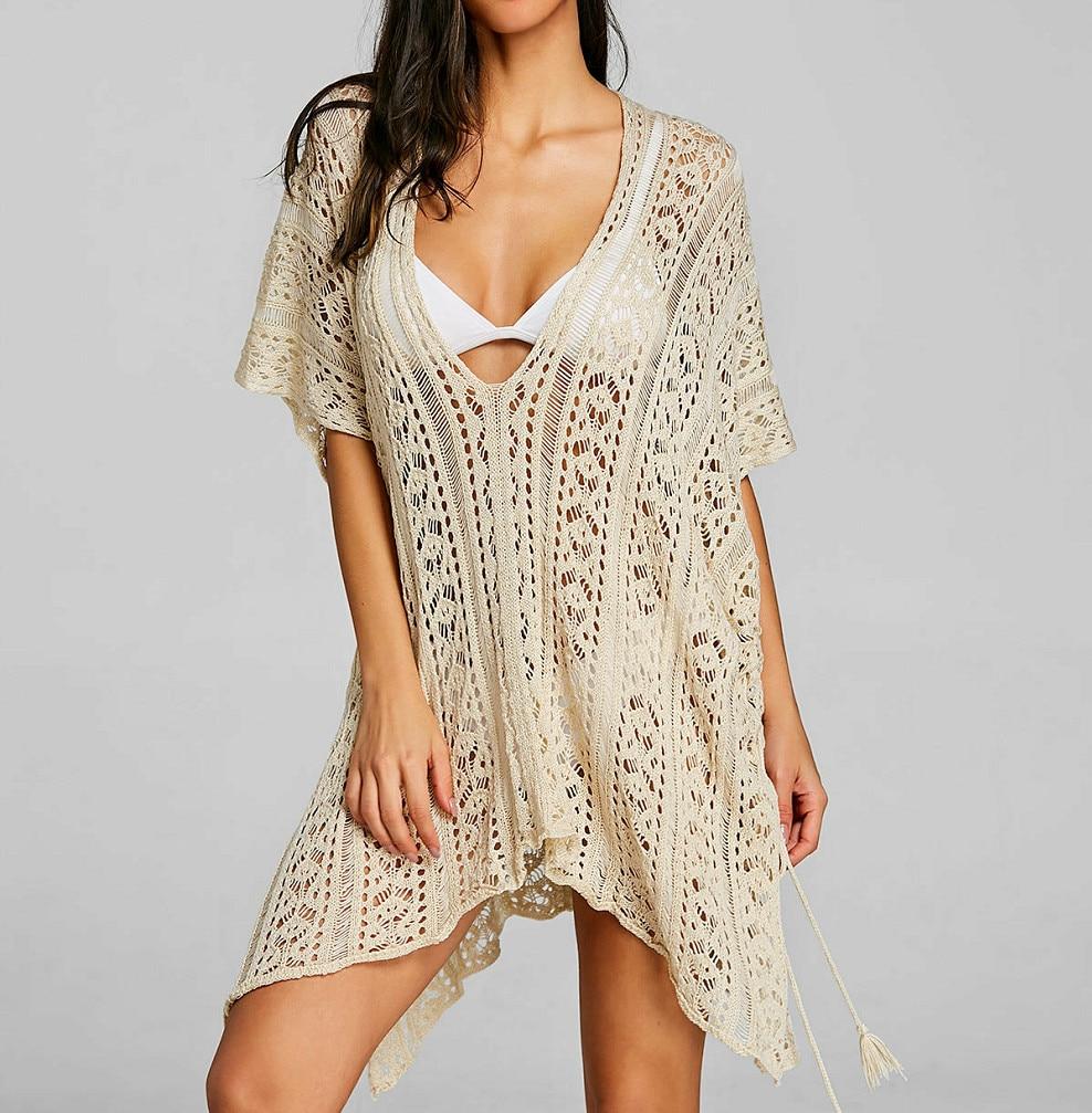 кружевное платье пляжное