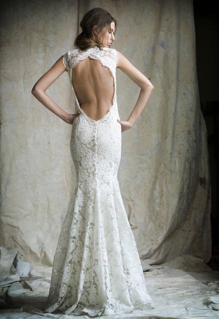 кружевное платье свадебное с открытой спиной