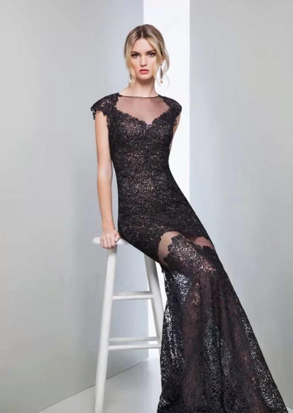 кружевное платье вечернее