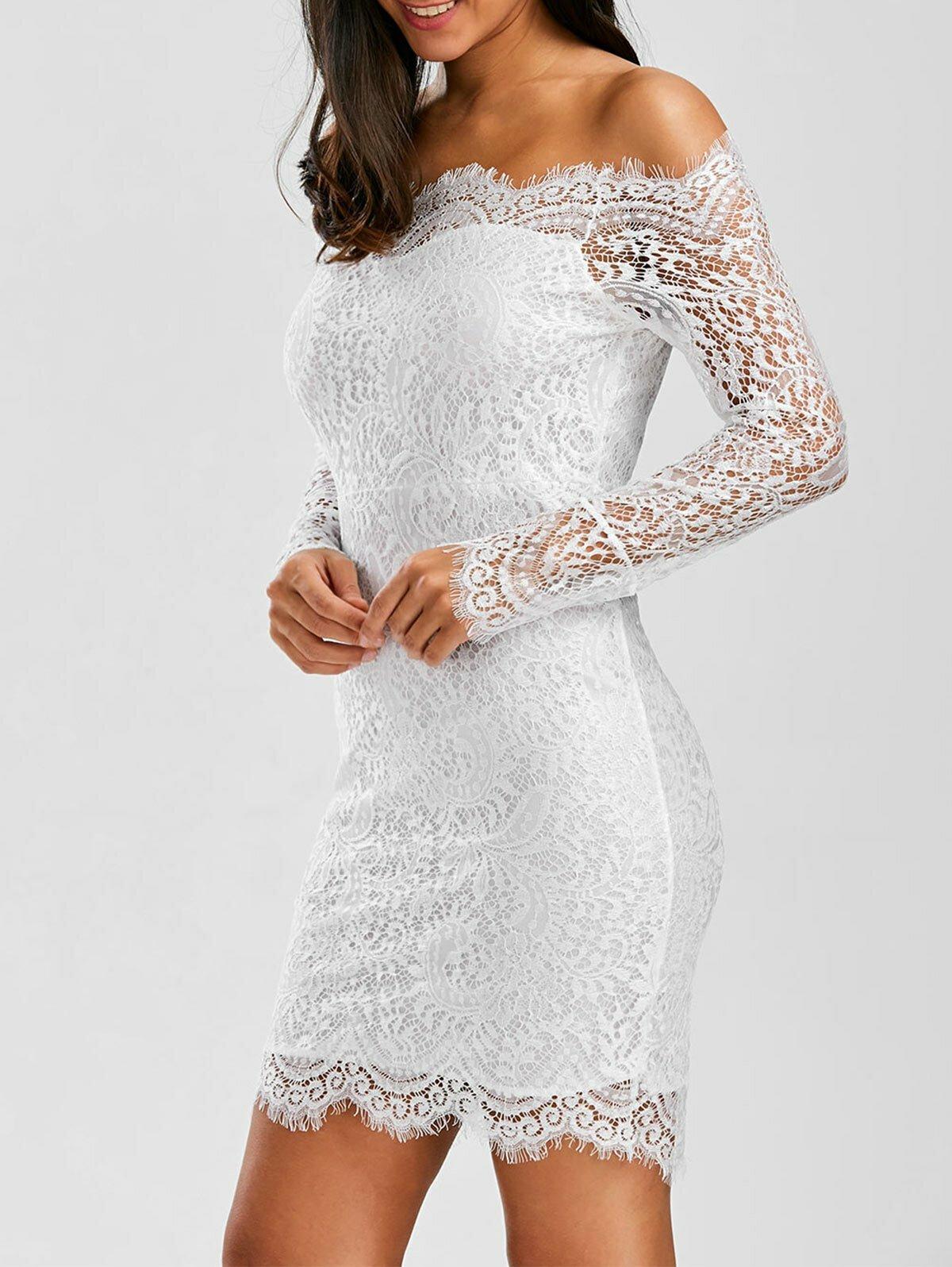 кружевное платье белое