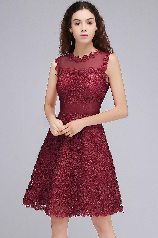 кружевное платье бордовое
