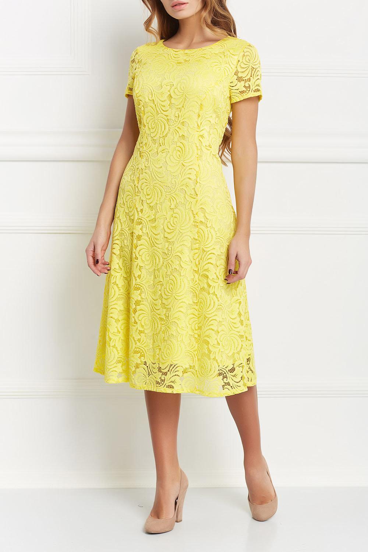 кружевное платье желтое