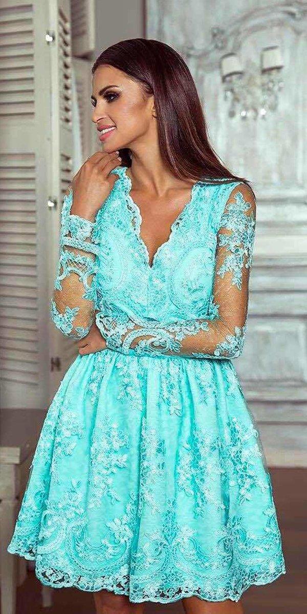 кружевное платье бирюзовое