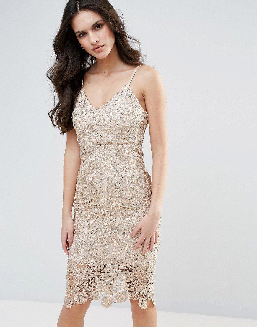 кружевное платье золотое