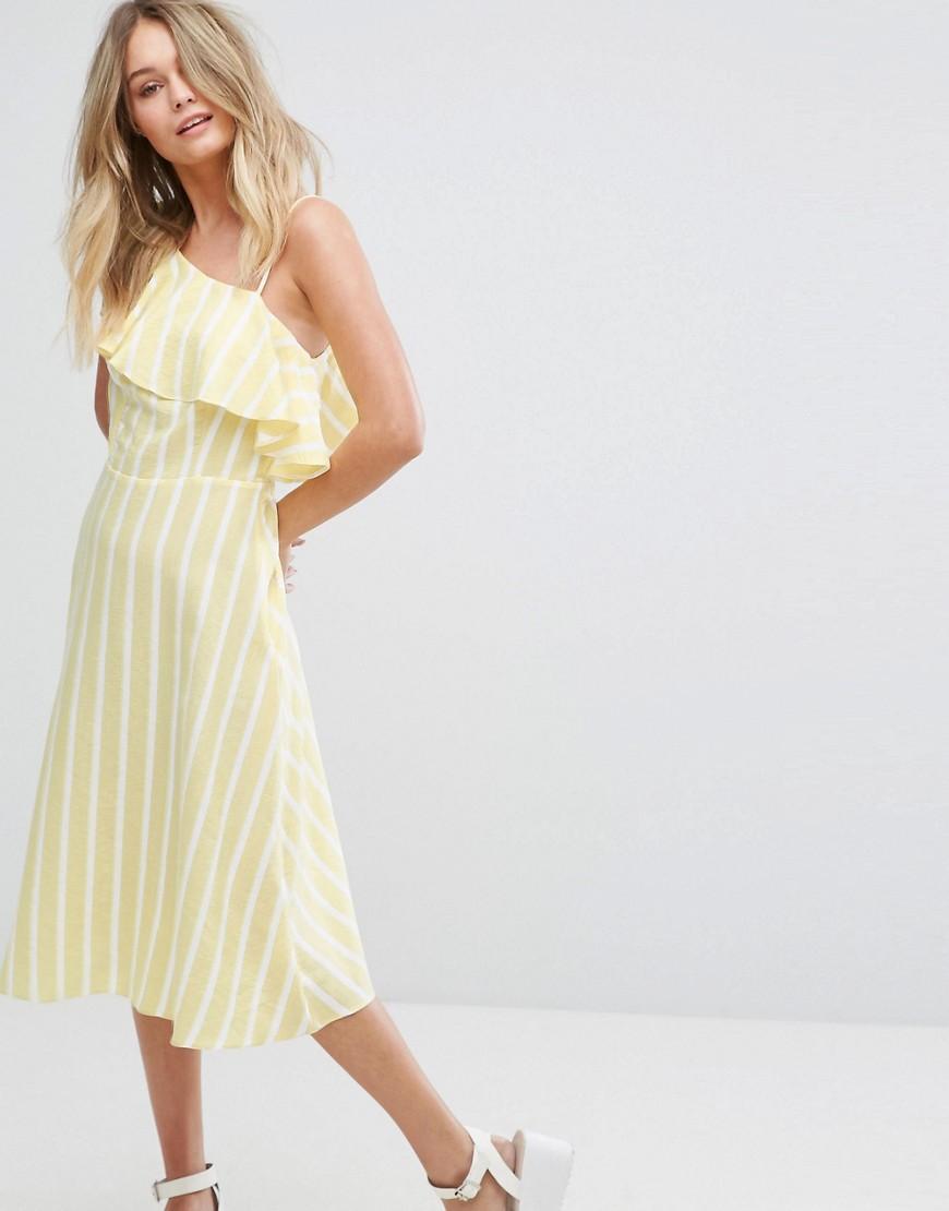 платье на одно плечо миди летнее