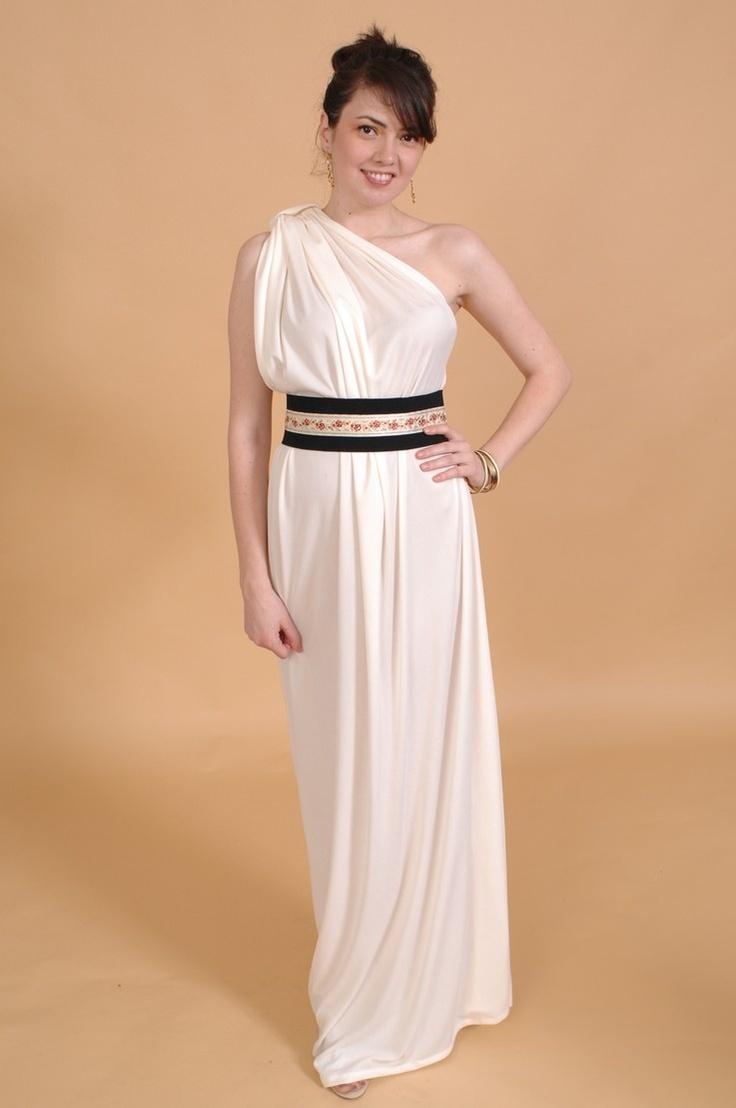 платье в греческом стиле на одно плечо