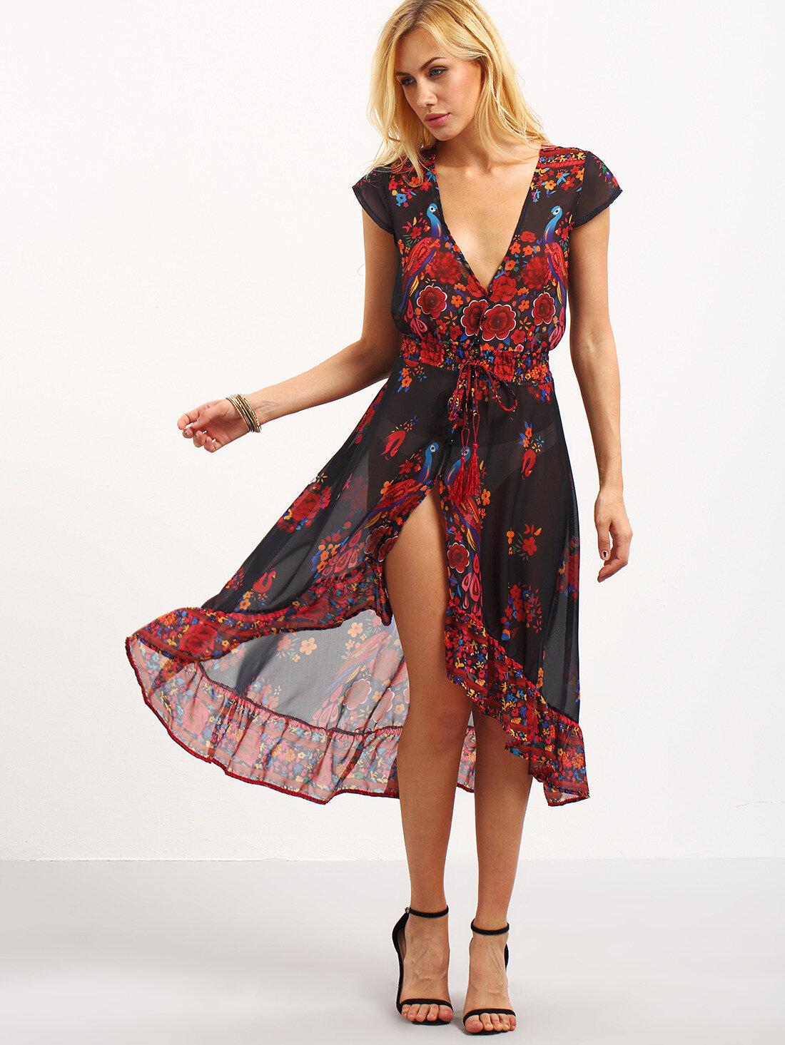 Легкое летнее платье с запахом